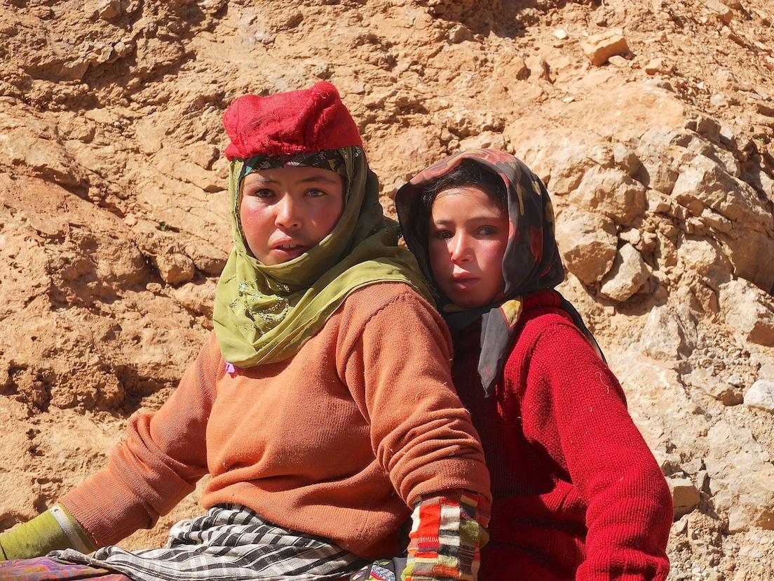 Nomaden in der Todra-Schlucht