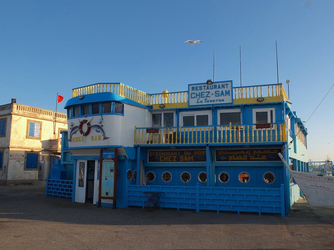 "Essaouira, Restaurant ""Chez Sam"""