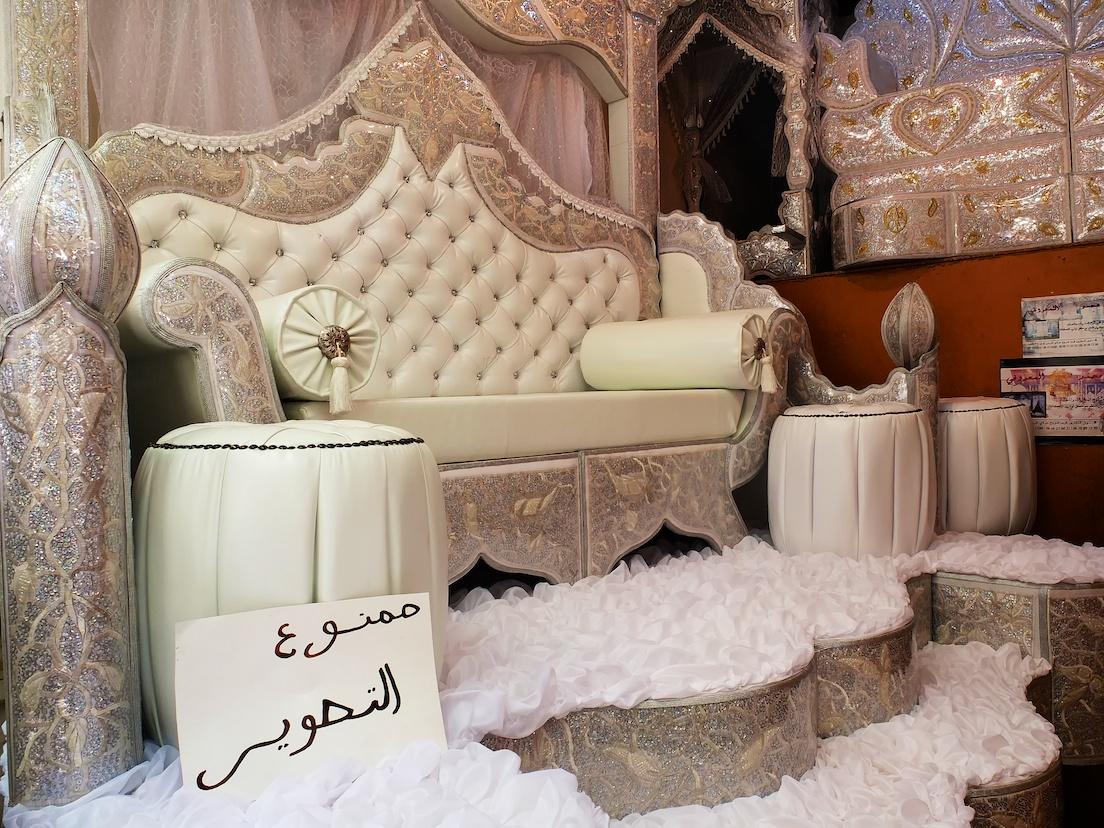 Fes  -  Souk (Hochzeitsthron)