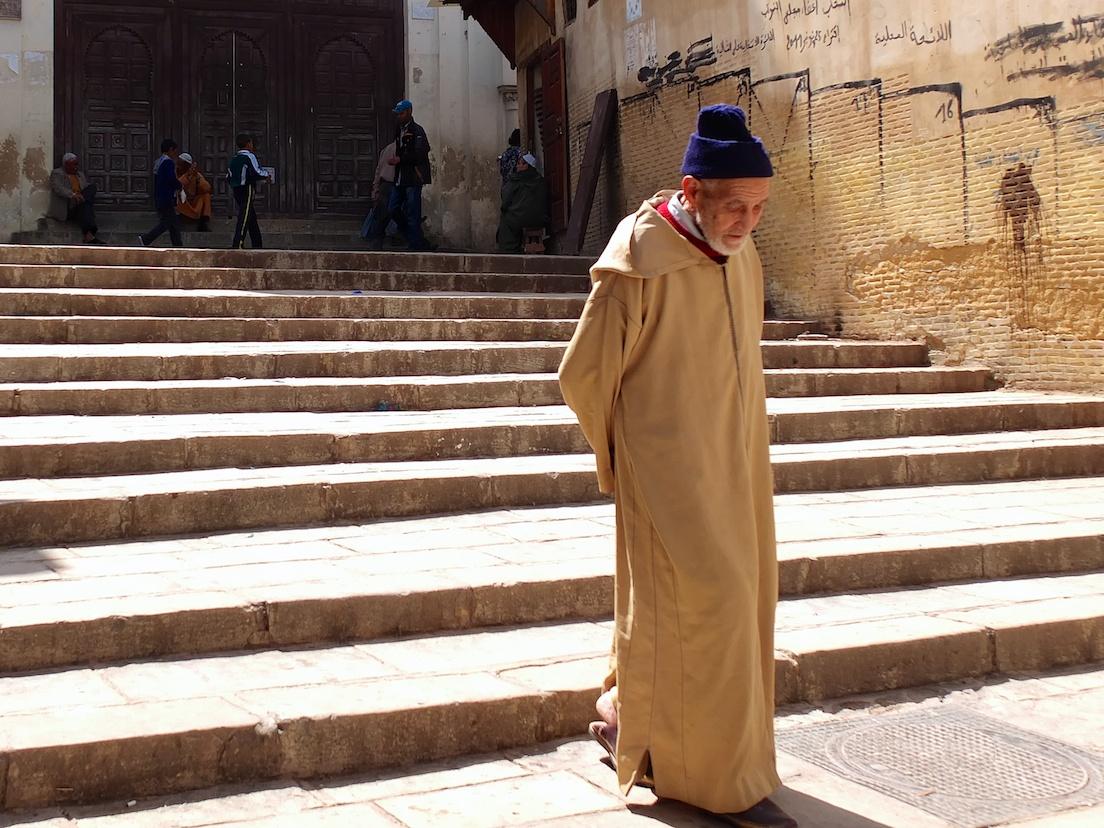 Fes  -  vor der Moschee des Andalous