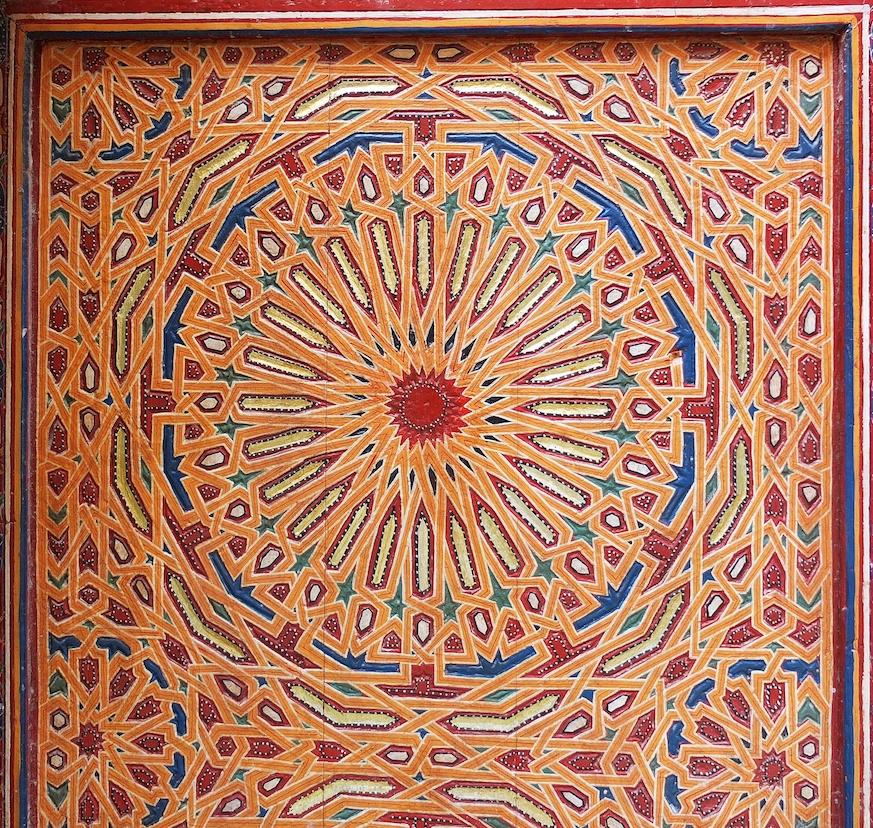 Fes  -  Medina, kunstvolle Torverzierung