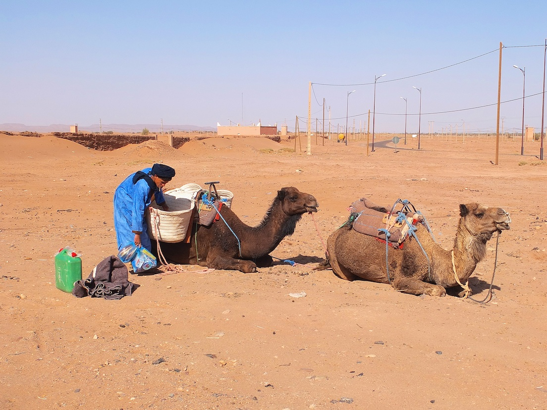 Mhamid, Vorbereitung für den Saharaausflug