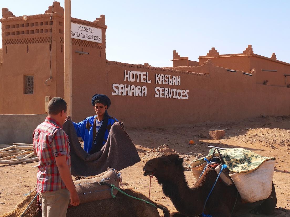 Mhamid, Vorbereitung für den Saharaausflug, Mhamid, Kasbah Sahara Services